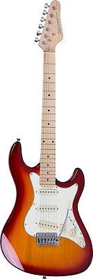 Kit Guitarra Strato Strinberg STS100 +Afinador + Capa + Correia + Cabo + Palhetas Cherry