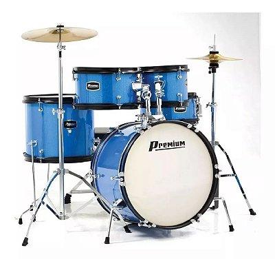 Bateria Acústica Infantil / Juvenil Premium Dx45 Azul