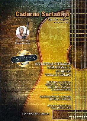 Caderno Sertanejo Letras, Cifras Viola E Violao Premium