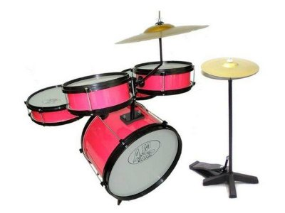 Bateria Infantil Profissional ROCK BABY (AM) - Rosa com Chimbal