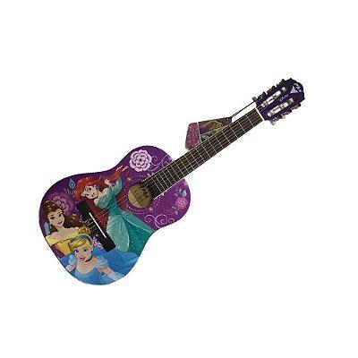 Violão Infantil princesas linha Disney PHX VIP 4 acompanha capa