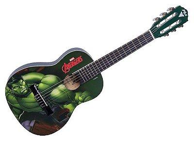Violão Infantil Hulk linha Marvel PHX vim-h1 acompanha capa