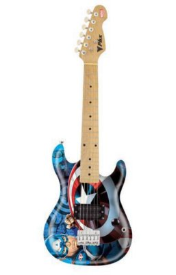Guitarra infantil Capitão América Linha Marvel PHX GMC - K2