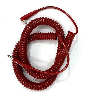 Cabo P10 Mac Billy Series Vintage Espiral 9,15m Vermelho 2 ANOS DE GARANTIA
