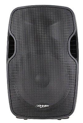 """Caixa De Som Ativa Donner Six6000 15"""" Fm Sd Rec Bluetooth Acompanha Pedestal"""