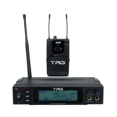 Monitor Retorno Tag Sound Sem Fio Tg9000 Com Receptor Bodypack True