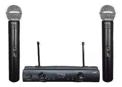 Microfone Sem Fio Duplo De Mão Uhf Tag Sound Tm559b Tagima Profissional