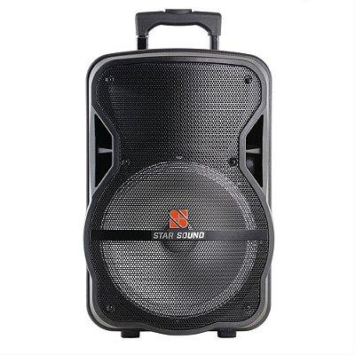 """Caixa Ativa 12"""" Com Bateria BT/FM/SD/USB SS120 - Star Sound"""