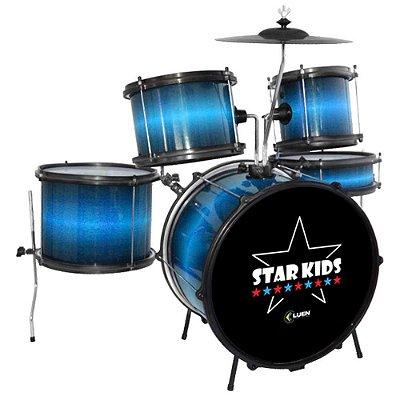 Bateria Infantil Luen Star Kids Azul