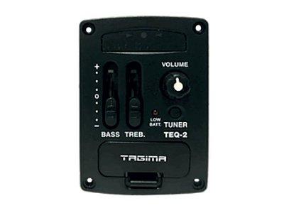 Pré Amplificador Tagima TEQ2 Afinador Cromático Ukulele/Cavaco