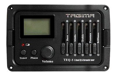 Pré Amplificador Tagima TEQ5 Afinador Cromático Violão/Viola