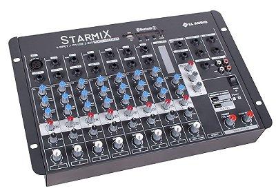 Mesa de Som LL Starmix USFX802R 8 Canais BT