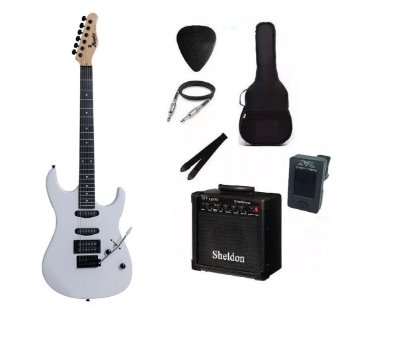Kit Guitarra Memphis By Tagima MG260 Branca Com Amplificador