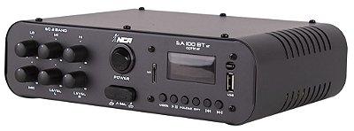 Amplificador Compacto de Potência Sa100 BT ST Optical Estéreo