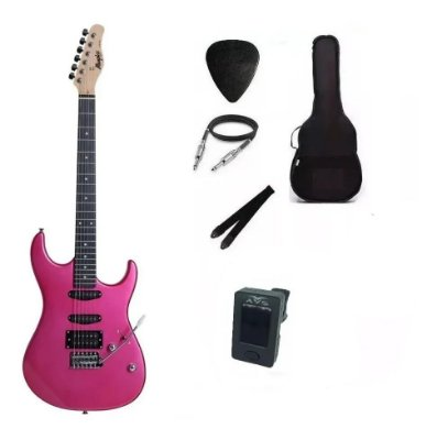 Kit Guitarra Memphis By Tagima MG260 Pink