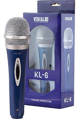 Microfone com fio Dinâmico Unidirecional Cardioid Vokal Kl6