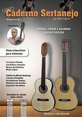 Caderno Sertanejo Letras, Cifras Viola E Violao Vol.1
