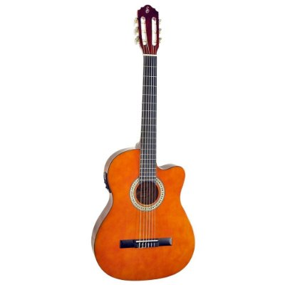 Violão Start by Giannini NF14 Elétrico Flat Nylon com Afinador - Natural