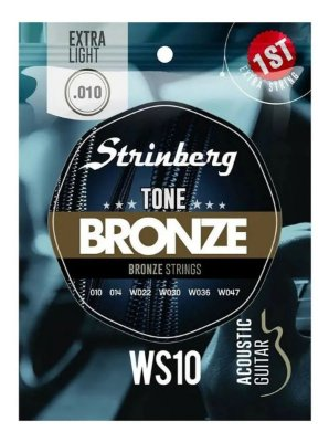 Encordoamento Strinberg Violão Aço WS10 010