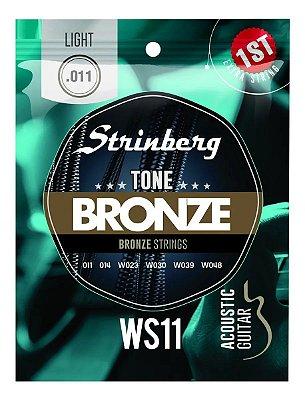 Encordoamento Strinberg Violão Aço WS11 011