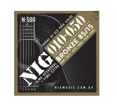 Encordoamento NIG Violão Aço N500 010