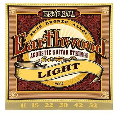 Encordoamento Ernie Ball Earthwood Violão Aço 011