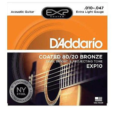 Encordoamento D'addario Violão aço EXP10 010