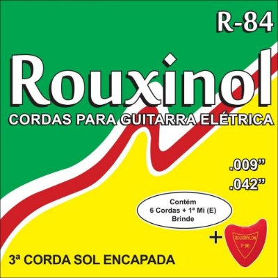 Encordoamento Rouxinol Guitarra R84 009