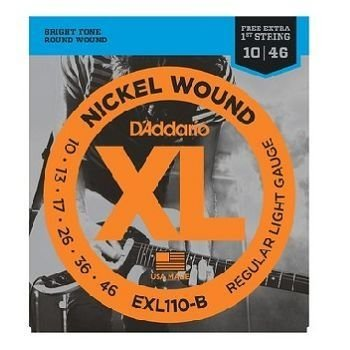 Encordoamento Para Guitarra Nickel Exl110-b 010/046 Daddario
