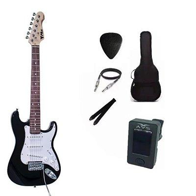 Kit Guitarra PHX Stratocaster Juvenil IST1 3/4 Preta