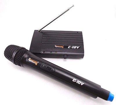 Microfone Sem Fio Mão Compativel C10V
