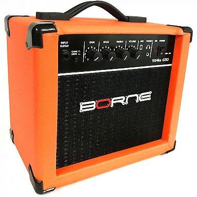 Amplificador Para Guitarra Borne G30 15w Rms Laranja