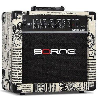Amplificador Para Guitarra Borne G30 15w Rms Jornal