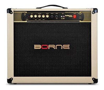 """Amplificador Para Guitarra Borne Vorax2100 2 falante 10"""" Palha"""