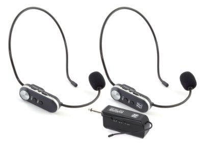 Microfone Sem Fio Duplo Headset Staner UHF SFW20