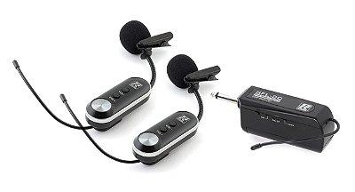Microfone Sem Fio Duplo Lapela Staner UHF SFL20