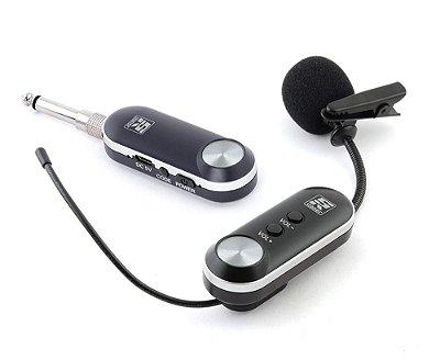 Microfone Sem Fio Simples Lapela Staner UHF SFL10