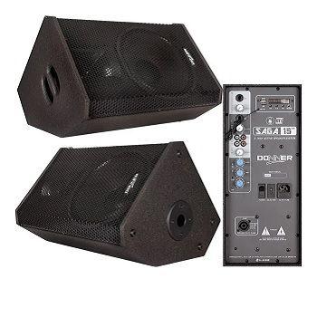 Kit Monitor Retorno Ativo 15 + Passiva 300w Saga + Cabo