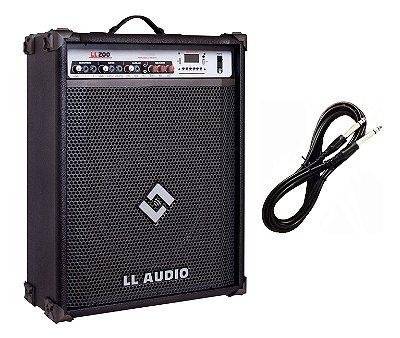 Caixa de Som Multiuso LL200 BLUETOOTH - USB - FM CABO P10 BRINDE