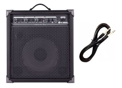 Caixa Amplificada Multiuso Guitarra/Microfone LX100 CABO P10 BRINDE