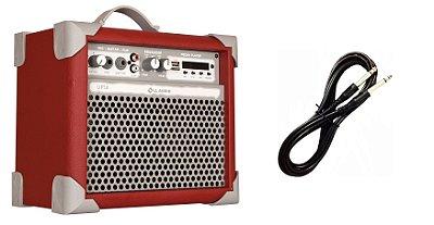 Caixa de Som Amplificada Multiuso UP!5 BLUETOOTH - Vermelha CABO P10 BRINDE