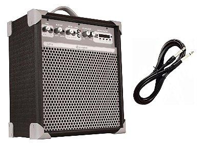 Caixa de Som Amplificada Multiuso UP!8 BLUETOOTH - Preta CABO P10 BRINDE