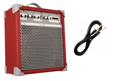 Caixa de Som Amplificada Multiuso UP!8 BLUETOOTH - Vermelha CABO P10 BRINDE