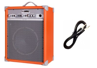 Caixa de Som Amplificada Multiuso UP!10 BLUETOOTH - Laranja CABO P10 BRINDE