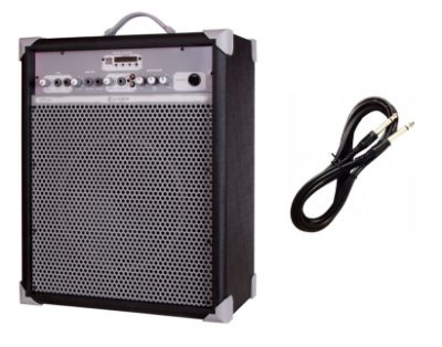 Caixa de Som Amplificada Multiuso UP!10 BLUETOOTH - Preta CABO P10 BRINDE