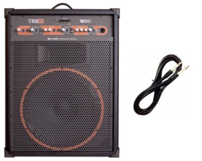 Caixa de som Amplificada Multiuso TRX15 – 120 W RMS CABO P10 BRINDE