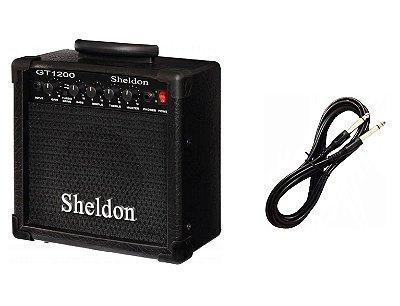 Cubo Amplificador para Guitarra Sheldon GT1200 CABO P10 BRINDE