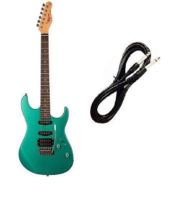Guitarra Tagima serie TW TG510 SurfGreen Cabo P10 Brinde