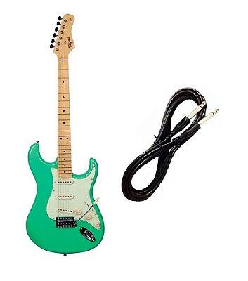 Guitarra Tagima TG530 Strato Surf Green Cabo P10 Brinde