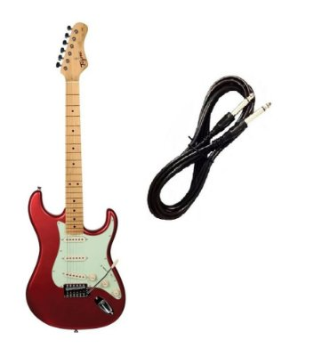 Guitarra Tagima TG530 Strato Vermelho Metálico Cabo P10 Brinde